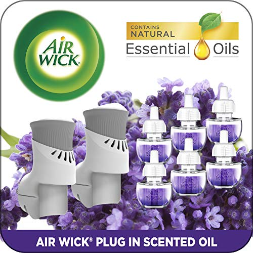 top rated Air Wick connects to aroma oil, 2 heaters + 6 refills, lavender and chamomile, eco-starter set. 2020