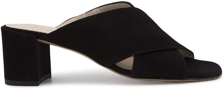 LA SELLERIE Women's 2886BLACK Black Suede Sandals
