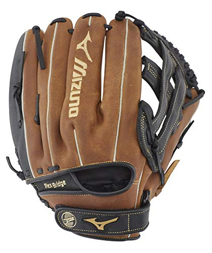 Mizuno GPSL1200BR Prospect Select Series Pitcher/Outfield Baseball Gloves, 12',...