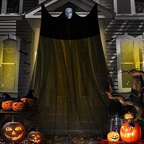 JOTELEMO 5m Decoraciones Colgantes de Fantasmas de Halloween, decoración de Interior y Exterior Espeluznante aterradora para Puerta de Garaje, Patio de casa