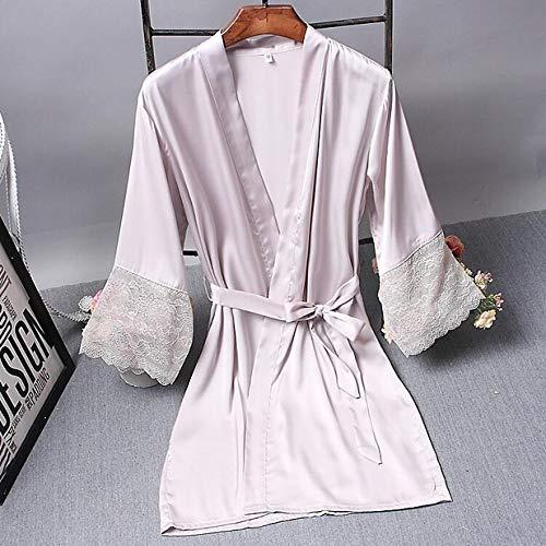 Aututer Brautjungfer Robe Robe Satin Robe Braut Elegante Pyjamas sexy Spitze Frauen Pyjamas Bademantel Kimono Seide Bademantel Schlaf Lounge