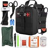 TOUROAM IFAK - Kit de primeros auxilios para traumas, bolsa Micro Rip Away Molle Med, bolsa médica...