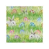 CPYang - Tovaglioli di stoffa con uovo di coniglietto pasquale, set di 1 tovagliolo da cucina, per cene di famiglia, matrimoni, feste, banchetti, ristoranti, 50 x 50 cm