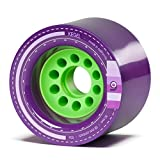 Orangatang Kegel 80 mm 83a Downhill Longboard Skateboard Cruising Wheels w/Loaded Jehu V2 Bearings (Purple, Set of 4)