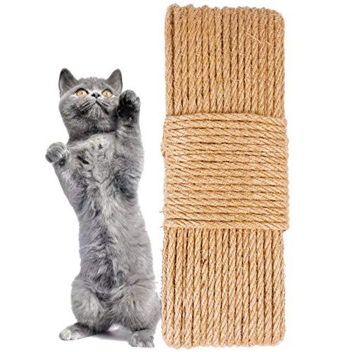 Sisalseil Natural Sisal Seil Katze Kratzt Natürliches Hanfseil Katzen Kratzbäume Schnur Natürliches Sisalseil Reißfeste Sisalschnur Kratzbaum Seil Naturprodukt Sisal Sisalseil für Katzen (1 Stück)
