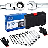 12 Piece Combination Spanners Flexible Ratchet Wrench Tool Set 8-19mm Amazing Tour