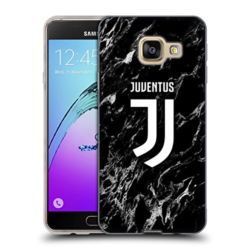 Head Case Designs Ufficiale Juventus Football Club Nero 2017/18 Marmoreo Cover in Morbido Gel Compatibile con Samsung Galaxy A3 (2016)