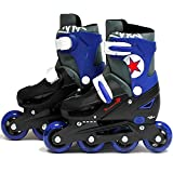 Sk8 Zone By Eurotrade Boys' HW219513 SK8 Zone Blue Roller Blades Inline Adjustable Size Childrens Kids Pro...