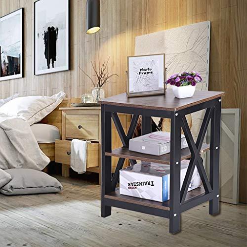 Estanterías mesita de noche mesa auxiliar con almacenamiento sofá mesa auxiliar con 2 mesas de café para dormitorio