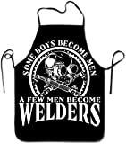 I Am A Welder Badass Welding Locked Edge Waterproof and Durable Rope Adjustable Easy Care Cooking Apron Ladies Men Chef Apron