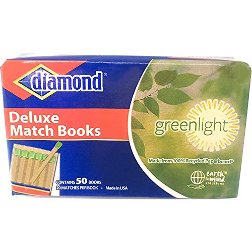 Diamond Deluxe Greenlight Match Books - 1000 Matches