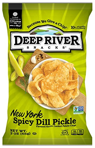 Deep River Snacks Kettle Chips, New York Spicy Dill Pickle, 2-Ounce (Pack of 24)