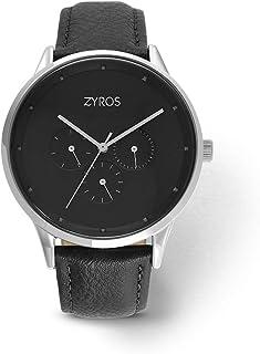 Zyros Watch for Men, Analog, Leather - ZAL024M110202
