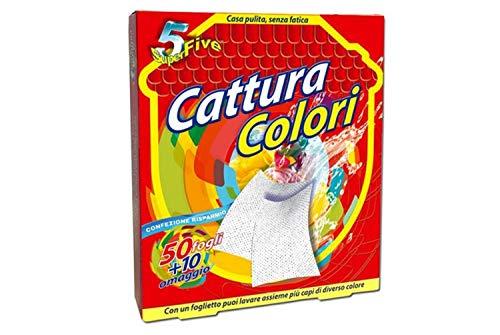Fogli Cattura Colore per Lavatrice, 50+10 pezzi