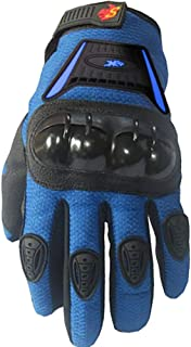 Street Bike Full Finger Motorcycle Gloves 09 (Large, Blue)