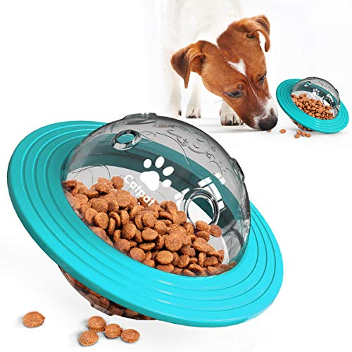 CATPAT Interactive Dog Toy IQ Treat Ball Food Dispensing Dog Puzzle Toy for Small Medium Dogs Playing Chasing Chewing