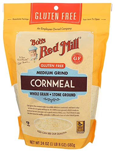 Bob's Red Mill Medium Grind Cornmeal Gluten Free 24 Ounce (Pack of 2)