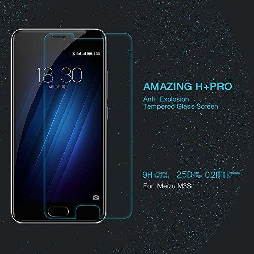 Nillkin Amazing H+ Pro - Vetro temperato protezione dello schermo 0,2mm con bordi curvi 2.5D per Meizu M3S