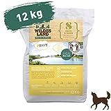 Wildes Land | Trockenfutter für Hunde | Nr. 8 Puppy Ente & Huhn | 12 kg | mit Kartoffeln und Wildkräutern | Glutenfrei & Hypoallergen | Extra viel Fleisch | Beste Akzeptanz und Verträglichkeit