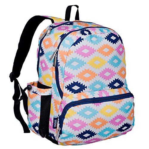 Wildkin 17 Inch Kids Backpack for Boys & Girls, Features Three Zippered Compartment with Interior & Side Pockets Backpacks, Perfect for School & Travel Backpack for Kids, BPA-free (Aztec)