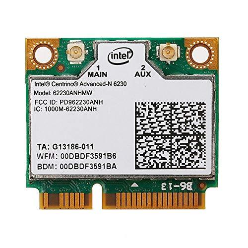 Wireless Card WiFi + Bluetooth 3.0 Intel 6230 6230AN 62230ANHMW 300Mbps 802.11 a/b/g/n Mini PCI-E 2.4GHZ/5GHZ