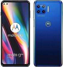 "moto g 5G plus Dual-SIM Smartphone (6,7""-CinemaVision-FHD-Display, 48-MP-Vierfach-Kamerasystem, 128 GB/6 GB, Android 10) Blau inkl. Schutzcover [Exklusiv bei Amazon]©Amazon"