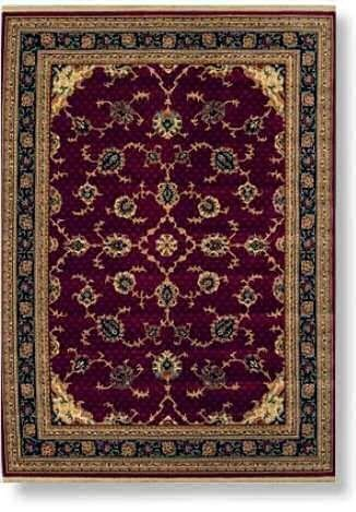 Shaw Nylon Bakshaish Traditional Area Rug, 5'5 W X 8'0 L, Red