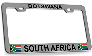 Custom Brother - BOTSWANA SOUTH AFRICA South African Steel Metal License Plate Frame Ch Bl