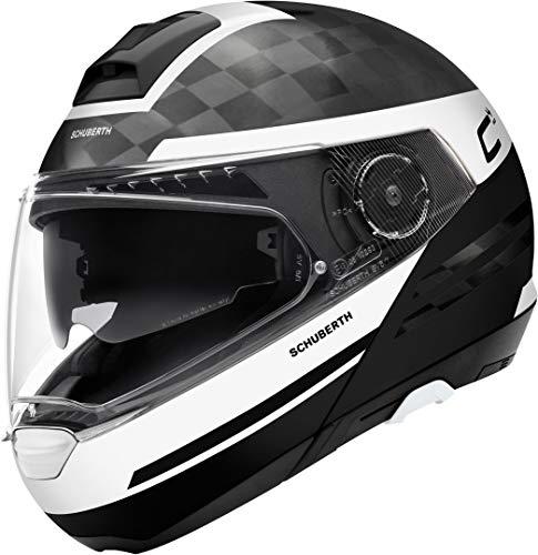 SCHUBERTH C4 PRO Carbon Tempest Bianca Modulare Casco per Moto Taglia L