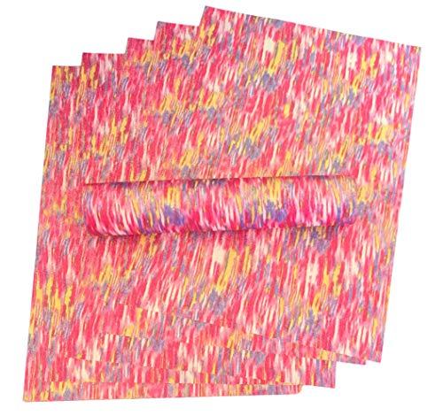 A4 Glitter Papier Roze, Rood, Paars, Geel en Wit Kleur Mix Sparkly Soft Touch Non Shed 100gsm Pack van 10 vellen