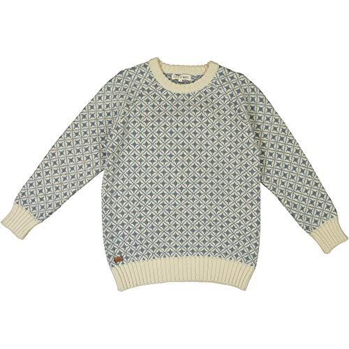 FUZA WOOL OF DENMARK Damen Alma Sweater Merinowolle (Misty, Medium)