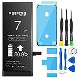 Perfine Batería para iPhone 7, Capacidad de 2370mAh Reemplazo del Batería iPhone 7 con Kit de reparación