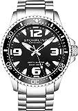 Montre de plongée Stuhrling Original Professional pour homme, 200 mètres, acier inoxydable, quartz suisse et couronne vissée