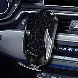 Caricabatterie da auto wireless Qi 15 W/10 W/7,5 W/5 W, sensore a infrarossi, supporto per iPhone XS/XS Max/XR/X/8/8+, Samsung Note10/S10/S10+/Note 9/S9/S8/S8+, LG/Pixel, ecc.
