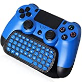 PS4 Keyboard, arVin 2.4G Wireless Chatpad, Rechargeable Online Gaming Live Chat Message KeyPad with Built in Speaker & 3.5mm Audio Aux-in for Sony Playstation 4, PS4 Slim, PS4 Pro Controller