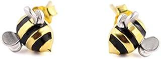 1 Pair Women's Earings Silver Cute Little Bee Studs Earrings Girls Animal Earrings