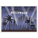 Hollywood fondo–fondo para estudio de fotografía–Ideal para Studio, cabina, fiesta, fotos, streaming, uso empresarial, 5x 7pies