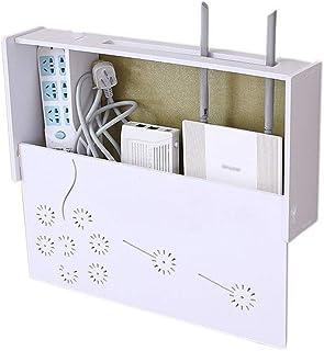 LULUDP Scatola di archiviazione Wireless Charging mensola Router Cable Box WiFi con Parete Forata Presa di Montaggio Set-T...