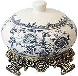 ZQADTU Latas de Tarro de decoración de cerámica de Estilo Americano/Tetera/Juego de té latas de Sellado con Base de aleación y Sellado