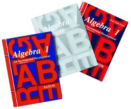 Saxon Algebra 1: An Incremental Approach (Homeschool Kit with Textbook, Solutions Manual, Test Bookl