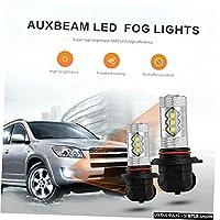 AUXBEAMペア9005 LEDフォグ電球ドライビングDRL 9145 H10 9140 6000K HIDホワイト AUX
