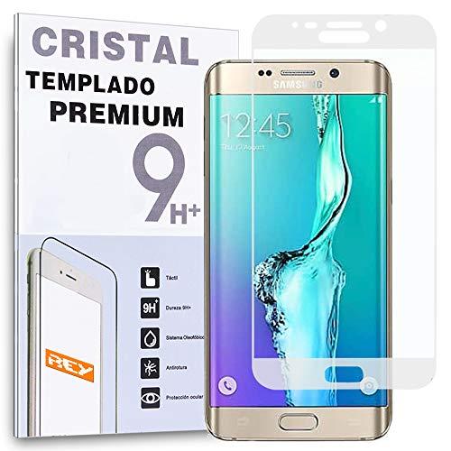 REY Protector de Pantalla Curvo para Samsung Galaxy S6 Edge Transparente Tamizado Cristal Vidrio Templado Premium