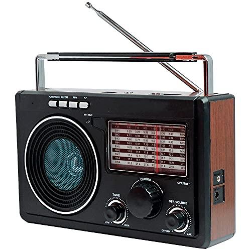 Rádio Recarregável Portátil AM/FM / USB/SD Livstar CNN 686