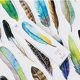 Bookmark Papelería Clip de Libro, Diseño de Papel de Hoja de Color Creativo astuto, 30 PCS One Set