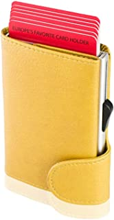 Santhome RFID Protection Wallet for Unisex - Leather, Yellow
