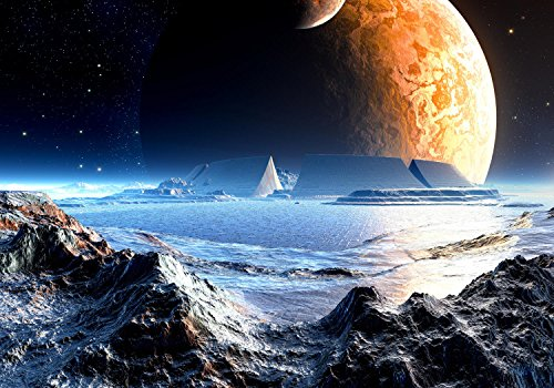 wandmotiv24 Vliestapete Neuer Planet Größe: 400 x 280 cm Wand-Tapete, Wandbild, Motivtapete, Vlies-Tapeten VT441