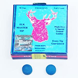 Elkmaster 15 x 9.5mm Elkmaster Pool Snooker Cue Tips by Elk-Master