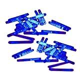 20 Mini-Knicklichter, Bissanzeiger, Angel-Knicklichter in blau inkl. Verbinder | verpackt zu je 2...