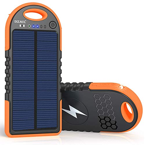 dizaul Solar Charger, 10000mAh Wireless Solar Power Bank, 18W Power Delivery USB C Charger, Type C Input & Output, QC 3.0 & PD Fast Portable Charger Compatible with iPhone, Samsung and More