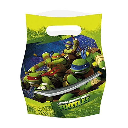 amscan Teenage Mutant Ninja Turtles 6-Party Geschenktüten